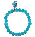 """Moeder sieraden: Jade armband turquois 8mm kraal model """"wijsheid"""""""