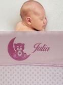 Babydeken met naam bolletjes diverse afbeeldingen