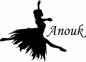 Naamsticker ballerina