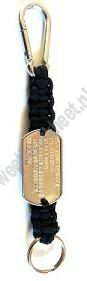 Paracord sleutelhanger dogtag musketon karabijnhaak en sleutelring