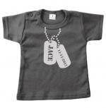 Baby t-shirt bedrukt dogtags