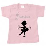 Baby t-shirt bedrukt balerina en naam