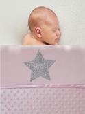 Babydeken met naam bolletjes ster