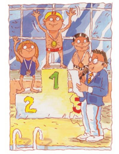 Kinderboek met naam de Olympische Spelen