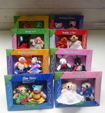 Furryville Mattel miniatuur complete set 8 doosjes U.S.A.