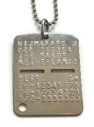 Dogtags uit Italy