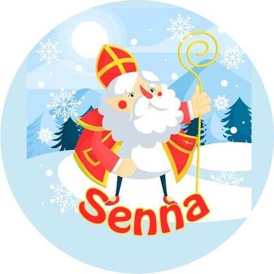 Buttons met naam model Sinterklaas diverse designs