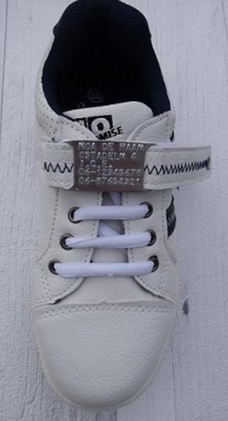 Shoe tag hardlopers of kinderen gratis klittenband