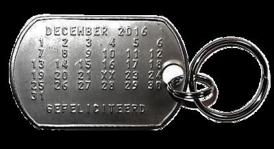 Sleutelhanger kalender