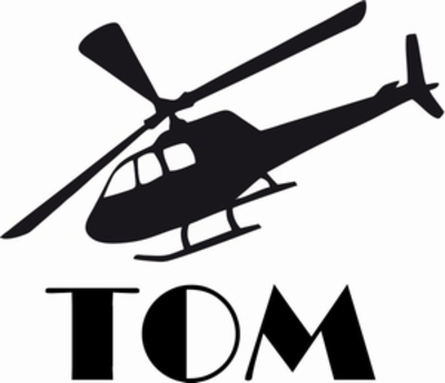 Naamsticker helikopter