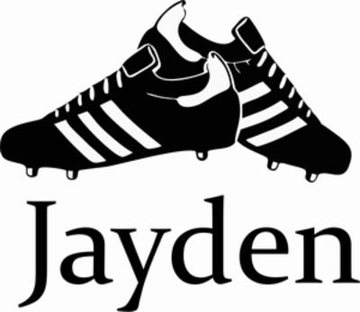 Naamsticker voetbalschoenen
