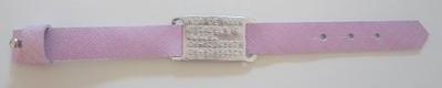 Sos armbanden leer Cuoio voor kinderen met geponst plaatje