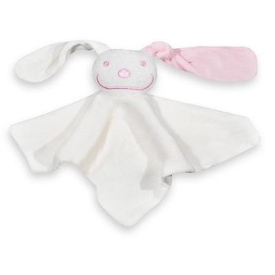 Tutpop konijn met naam geborduurd roze of blauw