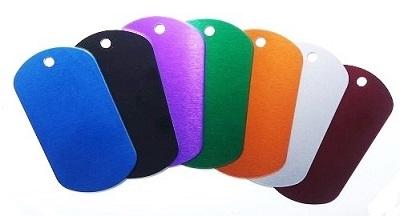 Identiteitsplaatje gegraveerd 1 of 2 kanten mogelijk diverse kleuren