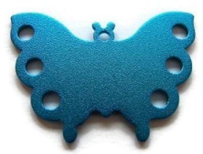 Sleutelhanger vlinder gegraveerd met naam en telefoonnummer aluminium