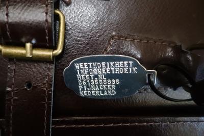 Kofferlabel aluminium geponst