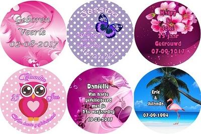 button 7,5 cm per stuk diverse designs