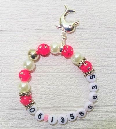 Weethoeikheet sos armbandje met telefoonnummer of naam 10 kleurencombinaties