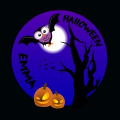 Buttons met naam Halloween per stuk twee designs