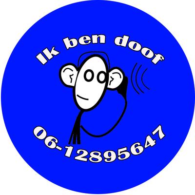 Button doof of slechthorend aapje per stuk