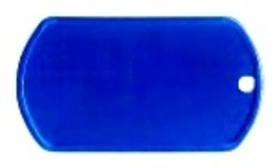 Dogtag aluminium met RVS schakelketting 70cm gratis silencer 9 kleuren