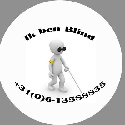 Button blind of slechtziend per stuk