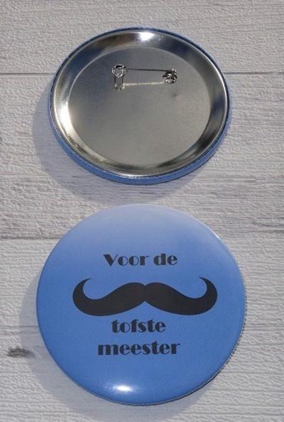 Button voor de tofste meester 7,5 cm
