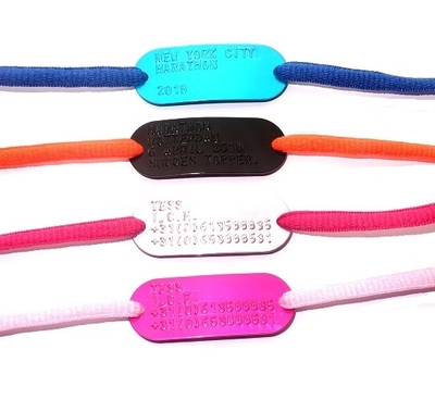 Shoe tag hardlopers of kinderen in kleur gratis veters