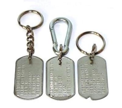 Dogtag RVS met sleutelhanger