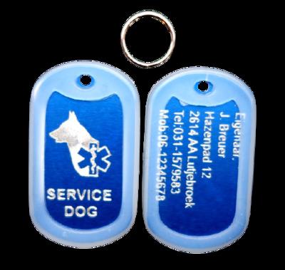 Dogtag service dog aluminium