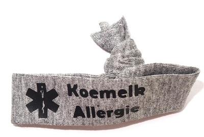 Stoffen polsbandje met allergie of medische aandoening