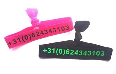 Stoffen polsbandje elastisch
