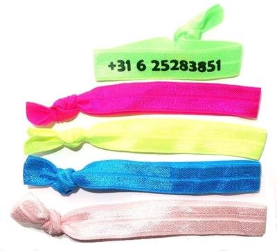 Stoffen polsbandje elastisch met telefoonnummer voor kinderen