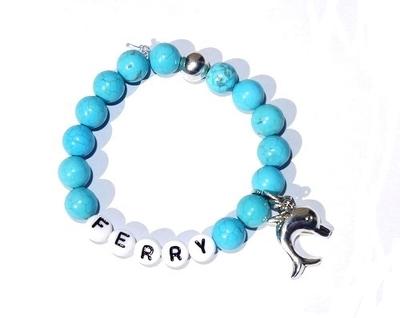 """Kindersieraden: jongens armband met naam model """"oceaan"""""""