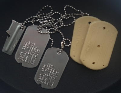 Dogtags Notches RVS set