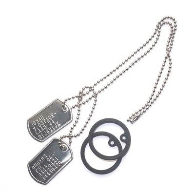 Dogtags mini RVS