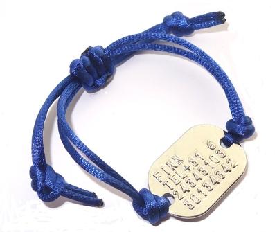 Armband SOS geponst voor kinderen verstelbaar zilver