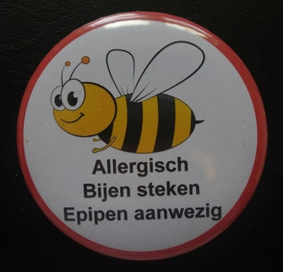 Wespen of bijen allergie button