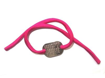 Armband SOS geponst voor kinderen elastisch koord