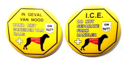 Hulphond hond niet scheiden van baas button 1 stuk