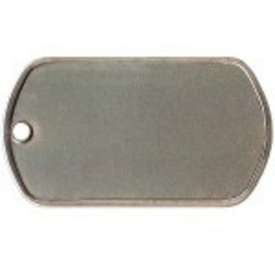 Identiteitsplaatje gratis silencer vanaf € 6,95 kleur RVS standaard (K)