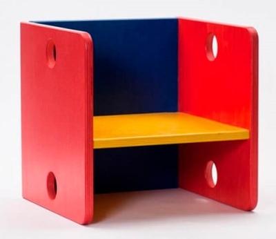 Kinderstoeltje kubus in kleur