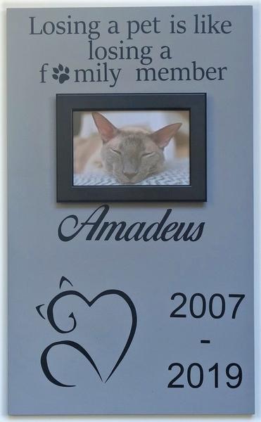 Herinneringsbord kat Sierlijk 50 x 30