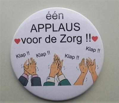 button applaus voor de zorg 7,5 cm per stuk