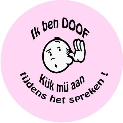 Button doof of slechthorend mannetje per stuk