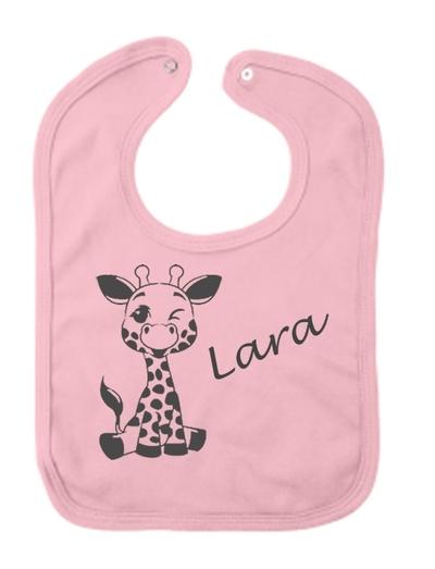 Slab  bedrukt met girafje en naam