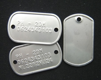 Droneplaatje per stuk of per set rvs van twee mini