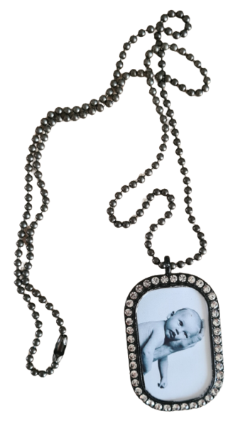 Dogtag foto strass