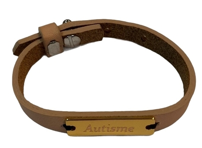 Sos armbanden leer voor kinderen met naamplaatje