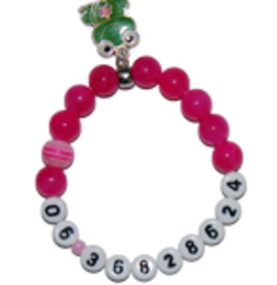 "SOS armband jade fuchsia ""prinses"""